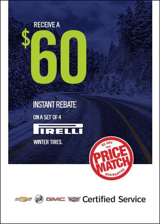 $60 Instant Rebate on Pirelli Winter Tires