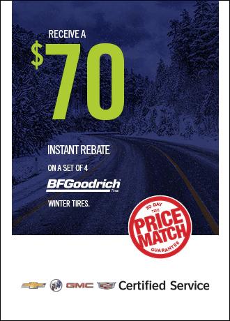 $70 Instant Rebate on BFGoodrich Winter Tires