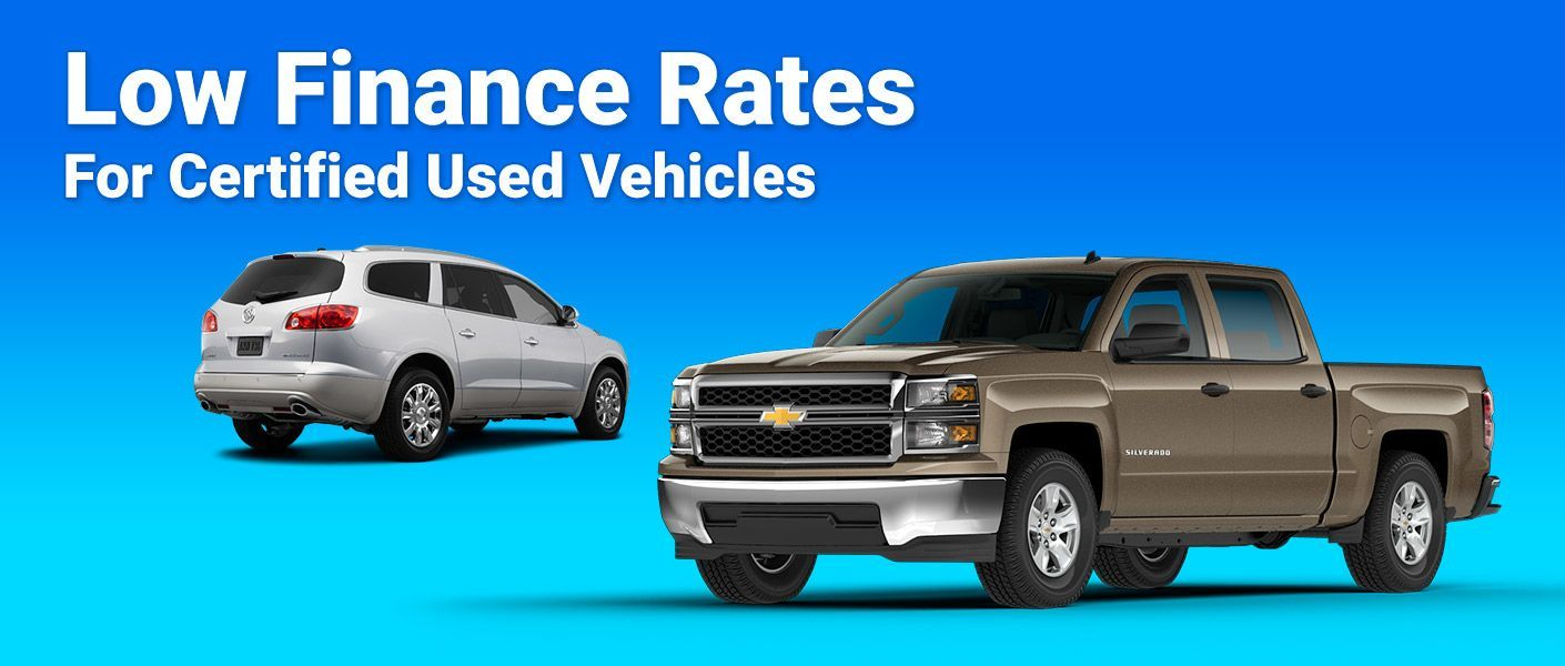 Low Finance Rates for Certified Used Vehicles