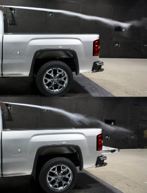 Wind resistance tailgate test
