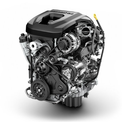 The Duramax diesel engine of the 2016 GMC Canyon