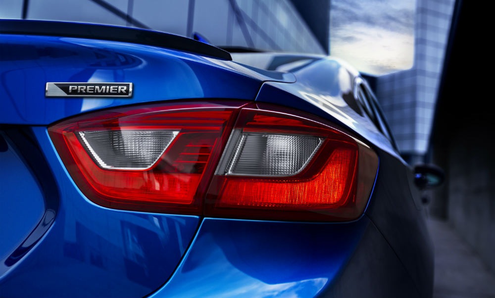2016 Chevy Cruze Premier taillight