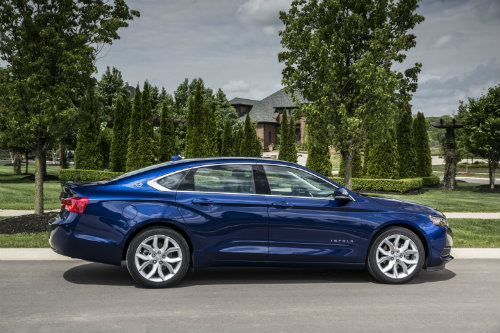 2016 Chevy Impala best full-size family sedan Kelley Blue Book