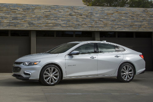 2016 Chevy Malibu one of the best midsize sedans according to Kelley Blue Book