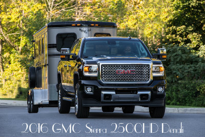 2016 GMC Sierra 2500HD Denali truck towing