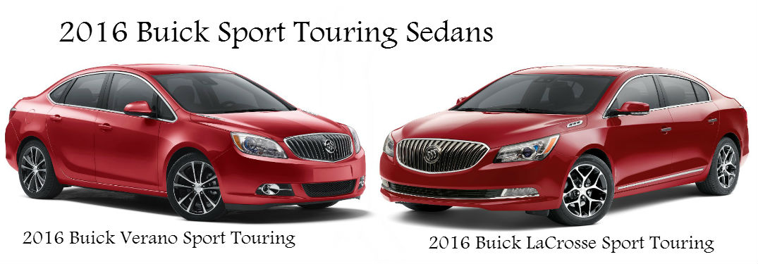 2016 Buick Verano and LaCrosse Sport Touring