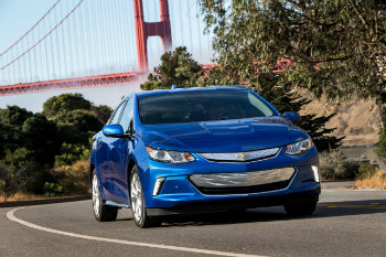2016 Chevy Volt on the road with efficiency