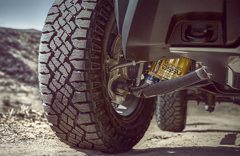view of the suspension of the 2017 Chevy Colorado ZR2