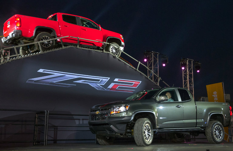 two versions of the 2017 Chevy Colorado ZR2