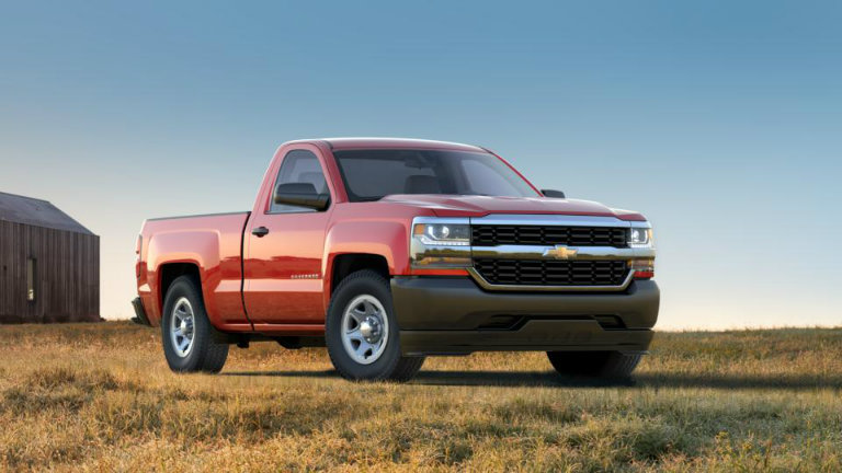 2017 Chevy Silverado in Red Hot