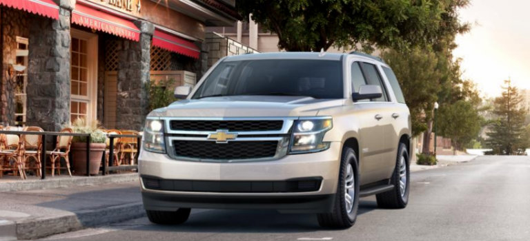 2017 Chevy Tahoe in Champagne Silver Metallic