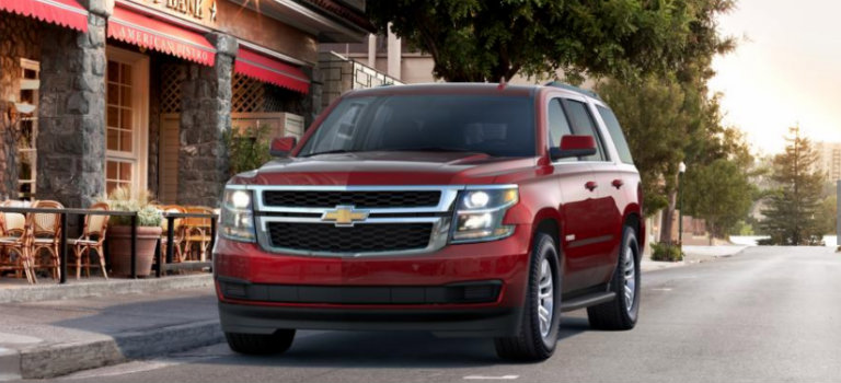 2017 Chevy Tahoe in Siren Red Tintcoat