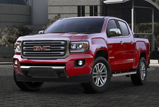 2017 GMC Canyon in Cardinal Red