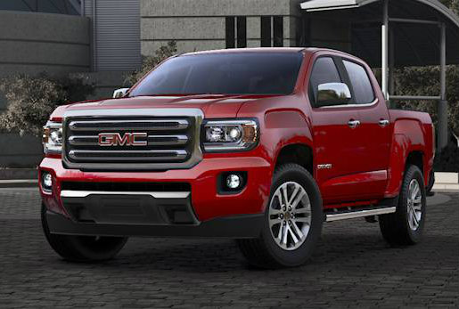 2017 GMC Canyon in Red Quartz Tintcoat