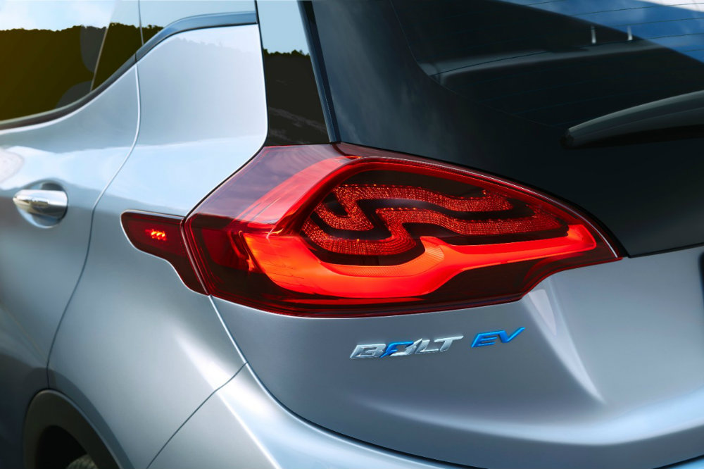 2017 Chevy Bolt EV rear light closeup