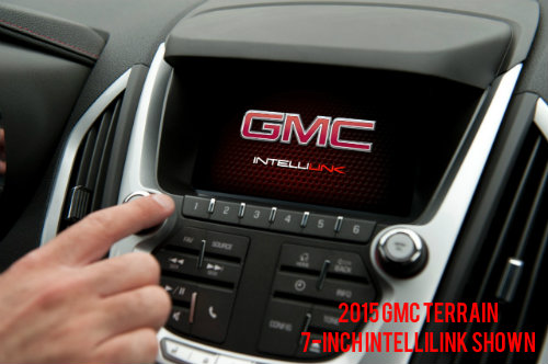 7-inch GMC IntelliLink Standard on the 2017 GMC Terrain Nightfall Edition