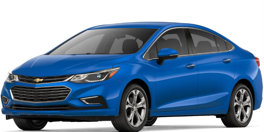 2018 chevrolet cruze in kinetic blue metallic on white bg