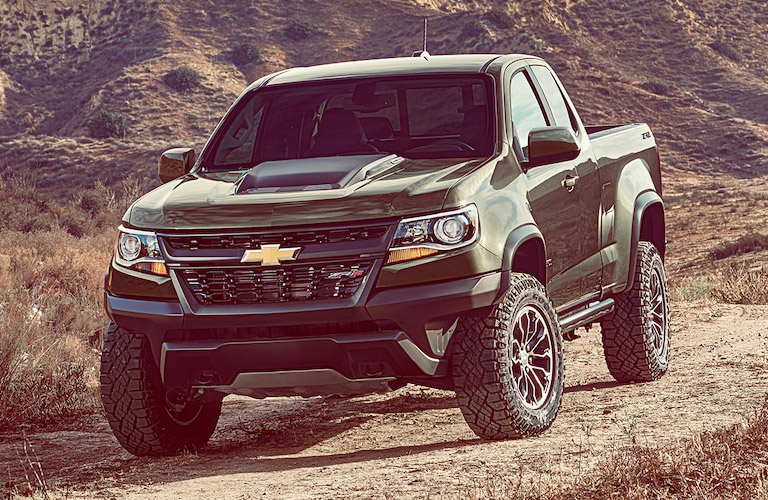 2018 Chevy Colorado in green