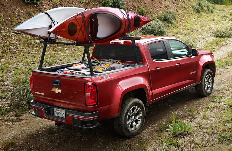 Chevy Colorado in red