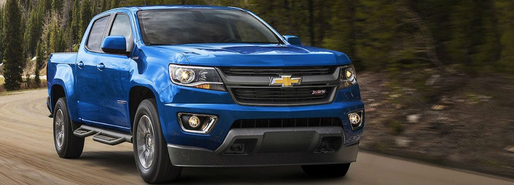 2018 Chevy Colorado in blue
