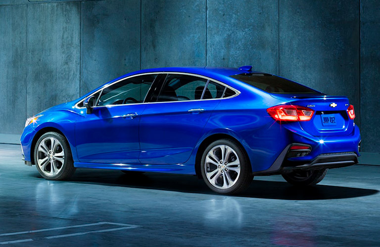 2018 Chevy Cruze sedan in blue