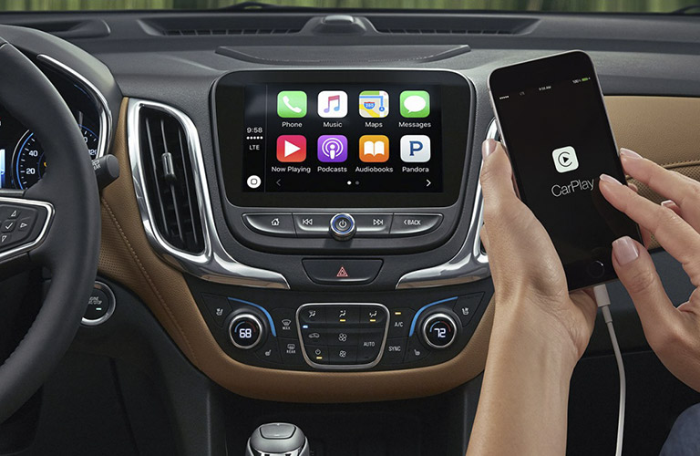 2018 Chevy Equinox with Apple CarPlay connectivity