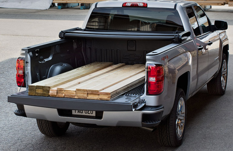 2018 Chevy Silverado trunk with planks