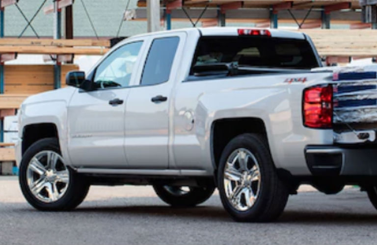 2018 Chevy Silverado in white