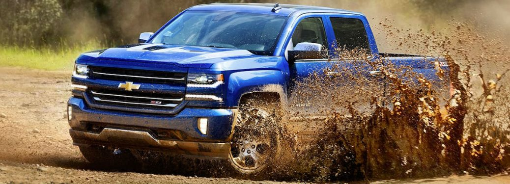2018 Chevy Silverado in the mud