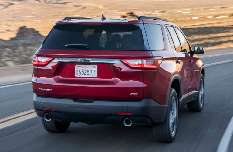 2018 Chevy Traverse RS rear in red