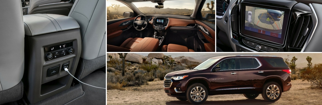 2018 Chevy Traverse standard features
