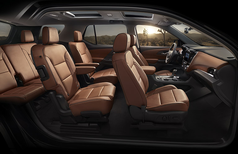 2018 Chevy Traverse seating