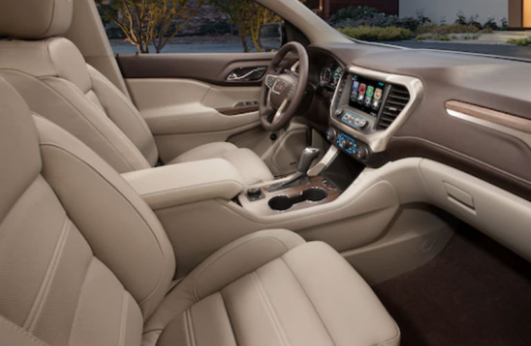 2018 GMC Acadia Denali front seating and dashboard