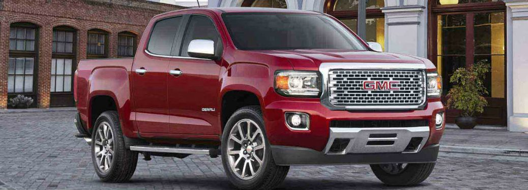 2018 GMC Canyon Denali in red