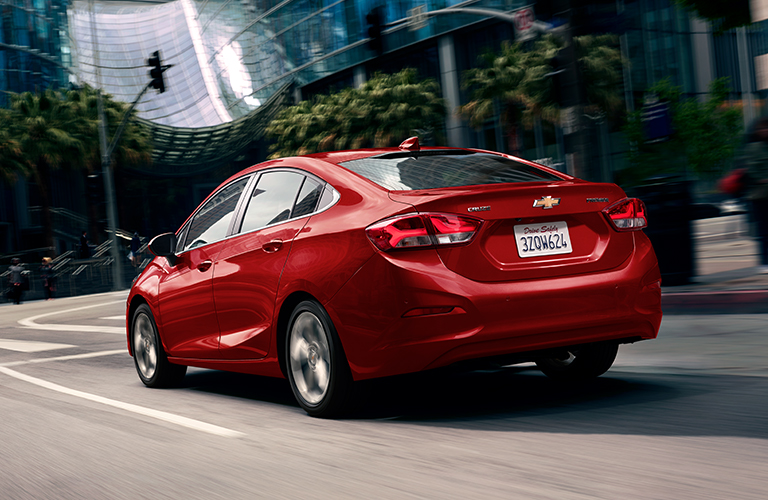 2019 Chevy Cruze rear in red