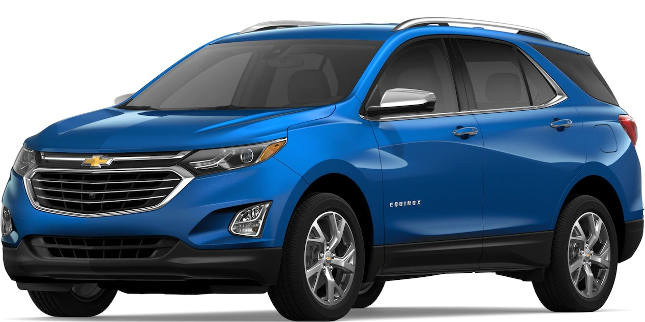 2019 Chevy Equinox Kinetic Blue Metallic side view