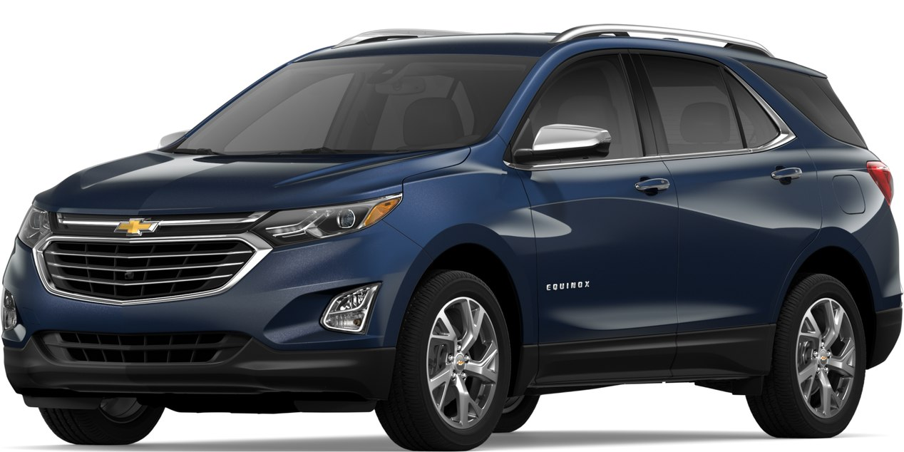 2019 Chevy Equinox Storm Blue Metallic side view