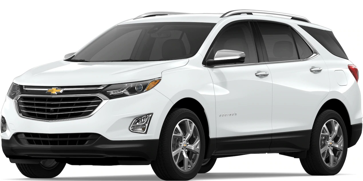 2019 Chevy Equinox Summit White side view
