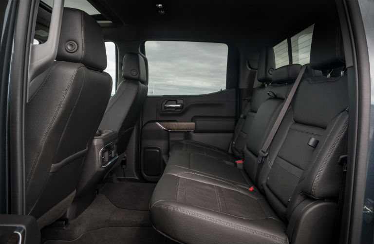 2019 GMC Sierra rear row seating