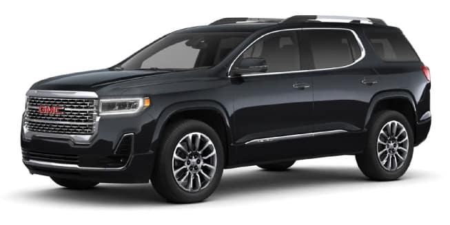 2020 GMC Acadia Carbon Black Metallic Color