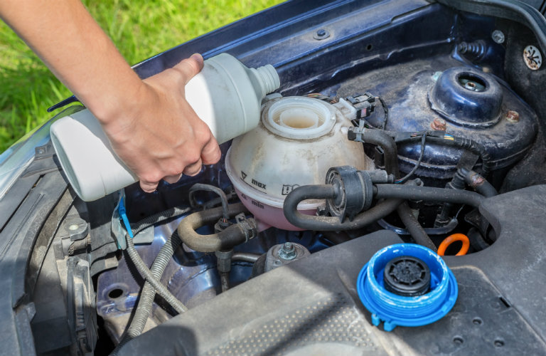 Adding coolant to your vehicle