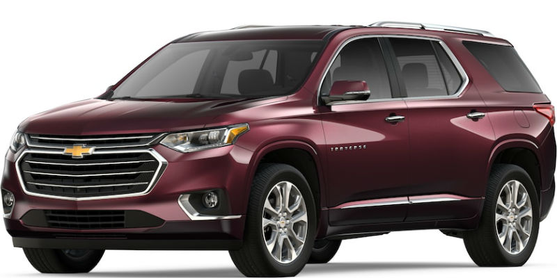 2019 Chevy Traverse in Black Currant Metallic