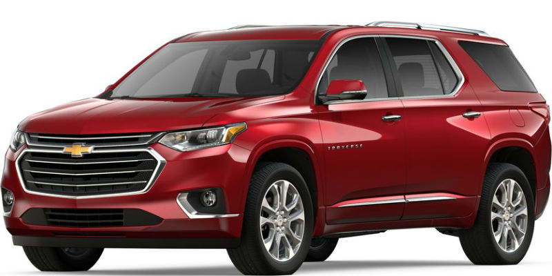2019 Chevy Traverse in Cajun Red Tintcoat