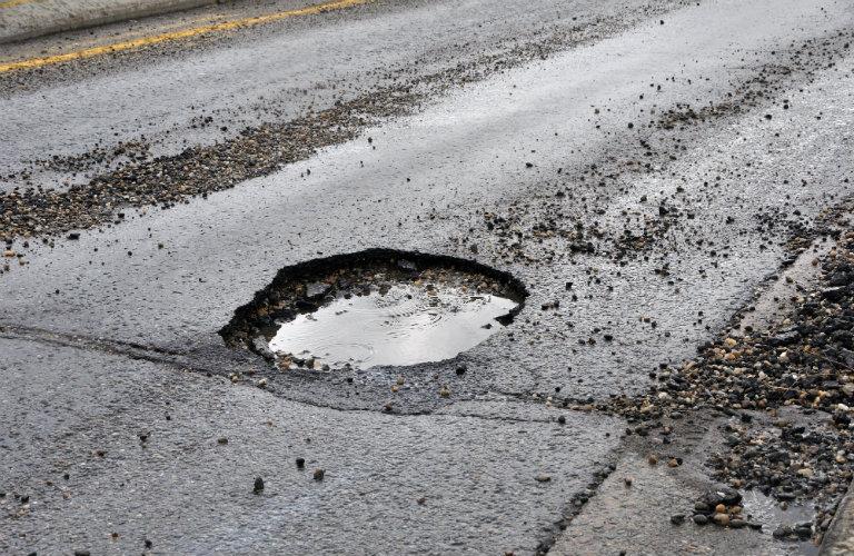 Car damage caused by potholes