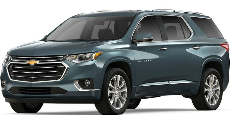 2019 Chevy Traverse in Graphite Metallic