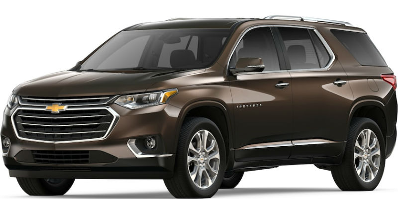 2019 Chevy Traverse in Havana Brown Metallic