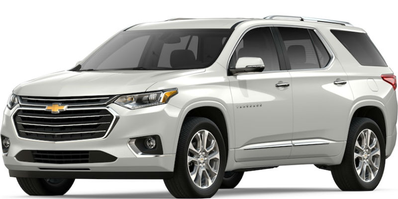 2019 Chevy Traverse in Iridescent Pearl Tricoat
