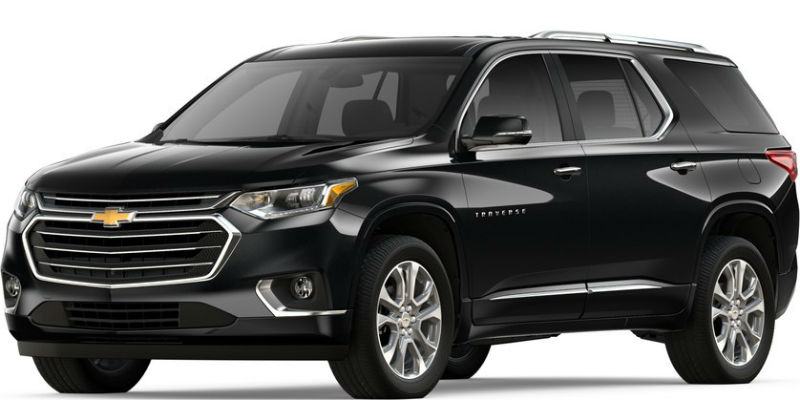 2019 Chevy Traverse in Mosaic Black Metallic