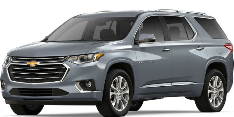 2019 Chevy Traverse in Satin Steel Metallic