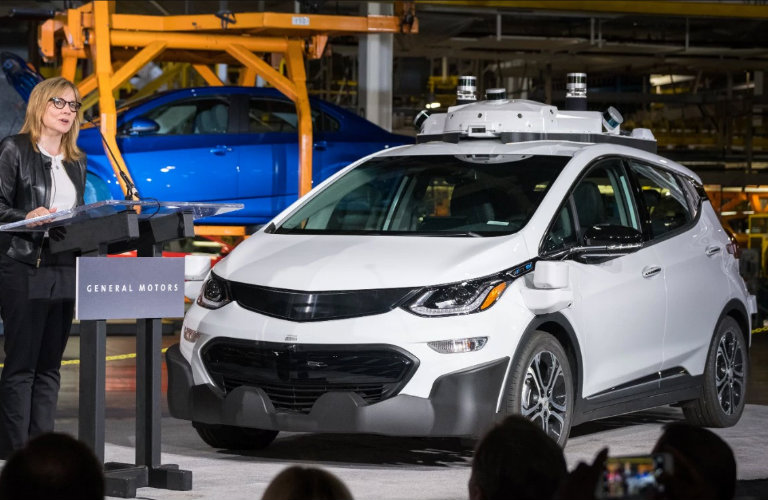 Self-driving Chevy Bolt debut